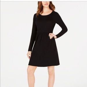 Maison Jules fit and flare black dress